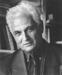 Balck and white headshot of Jacques Derrida